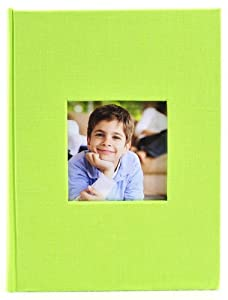 Pinnacle Frames and Accents Lime Green Book Cloth Photo Album, 1-Up
