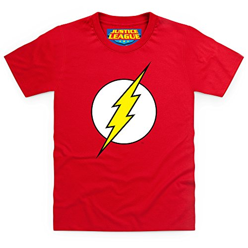 Official Justice League - The Flash Logo T-shirt bimbi, Bimbi, Rosso, S