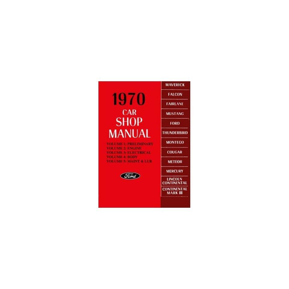 1970 MERCURY CAPRI COUGAR etc Shop Service Manual Book