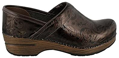 Dansko Women's Professional Brown Arabesque Patent Clog/Mule 39 (US Women's 8.5-9) Regular
