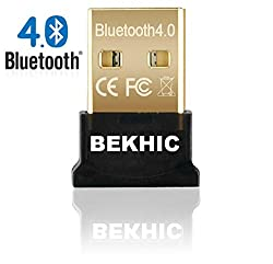Bekhic USB Bluetooth 4.0 adapter Dongle Receiver [2in1-UB]