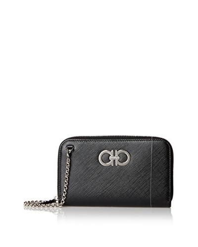 Salvatore Ferragamo Women's Chain Wallet, Black