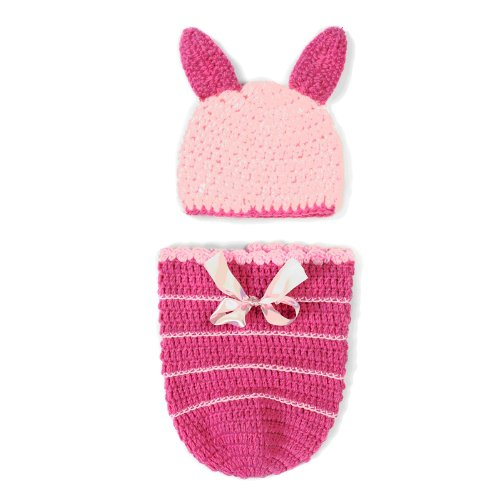 Elee Baby Boy Girls Crochet Animal Beanie Hat Cap Set Photography Costume Outfit