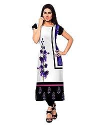 Saiveera Fashion New Arrival Women's Crepe Long Kurtis (VAT155_MultiColoured_Medium)