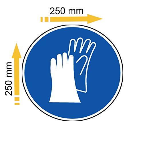 Adesivo in polimero plastificato raggi UV, Porta scarpe di sicurezza obbligatoria
