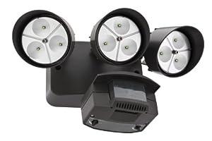 Lithonia OFLR 9LC 120 MO BZ LED Outdoor Floodlight 3-Light Motion Sensor, Dark Bronze