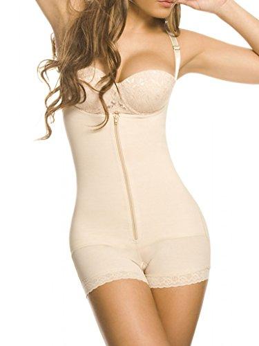 YIANNA Women's Body Slimmer & Butt Lifter - Body Shapewear bodysuit, YA7102-Beige-XS (Xsmall Butt Lifter compare prices)