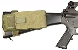 Specter Gear Fixed Stock M-16 and AR-15 Buttstock Magazine Pouch with Rear Adapter, Olive Drab