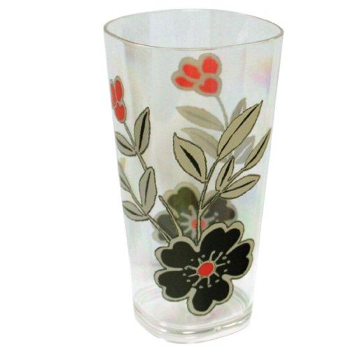 Corelle Coordinates Mandarin Flower 19-Ounce Acrylic Square Glasses, Set of 6