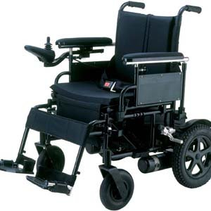 "Cirrus Plus Folding Power Wheelchair With Footrest And Batteries , Size: 16"" Seat Size"