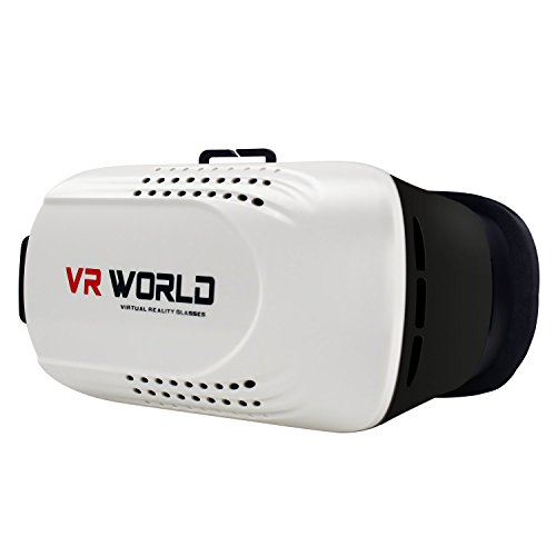 Virtual Reality Headset,R-just 3D VR Magic Glasses Box for Samsung Galaxy S7 edge,iPhone SE,iPhone 6s,Smart Phone,Suitable for IOS Android Cellphones White