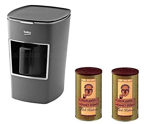 Beko-Turkish-Coffee-Maker-BKK-2113M-Usa-120-Volt-with-Two-2-Mehmet-Efendi-Turkish-Coffee-88OZ-Bundle