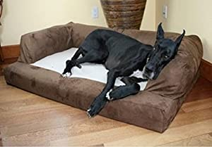 XXL Dog Bed Orthopedic Foam Sofa Couch Extra Large Size Great Dane - Chocolate by Hidden Valley