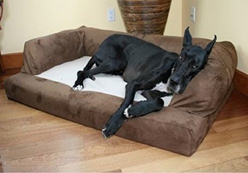 XXL-Dog-Bed-Orthopedic-Foam-Sofa-Couch-Extra-Large-Size-Great-Dane-Chocolate-by-Hidden-Valley
