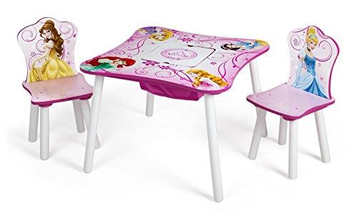 Disney - Set tavolo con 2 sedie Principesse