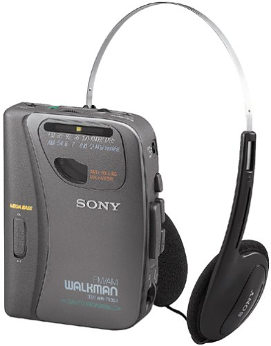 Sony Wmfx323 Portable Am/Fm Stereo Cassette Tape Player With Headphones