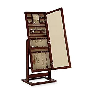 modern jewelry armoire full length cheval mirror home kitchen. Black Bedroom Furniture Sets. Home Design Ideas