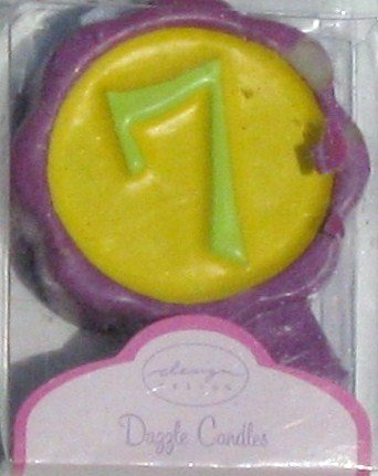 Number Birthday Cake Candles / Toppers / Decorations / # 7 - 1