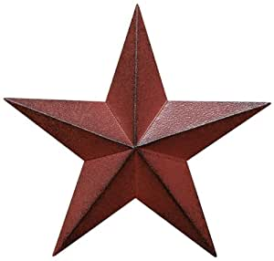 Cwi gifts barn star wall decor 12 inch for Barn star decorations home