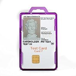 Identity Stronghold Secure Badge Holder Duolite, Purple (IDSH2004-001B-pur)