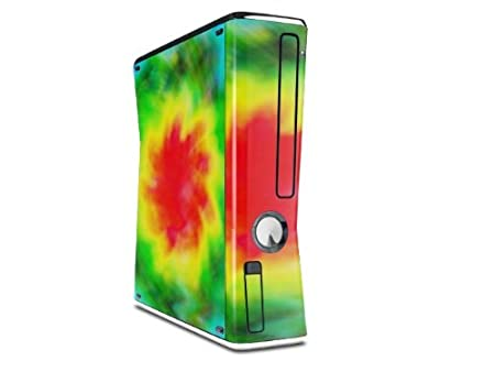 Tie Dye Decal Style Skin for XBOX 360 Slim Vertical