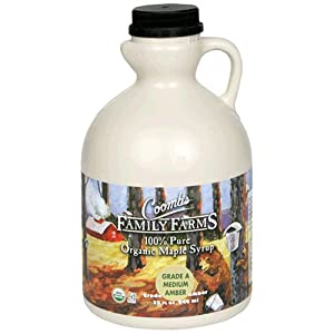 Coombs Family Farms 100% Pure Organic Maple Syrup Grade A Medium Amber, 32-Ounce Jug