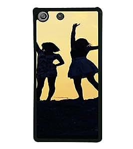 PrintVisa SONM5-Girls Silhouette Design Metal Back Cover for Sony Xperia M5 Dual E5633 E5643 E5663, Sony Xperia M5 E5603 E5606 E5653