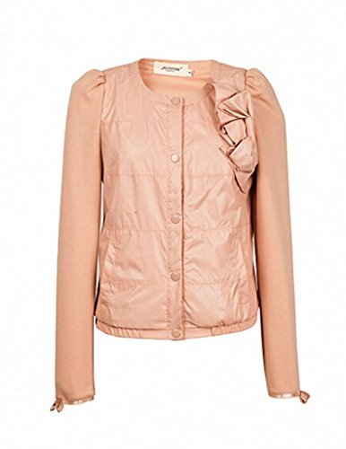 VENTELAN Womens Long Sleeve Comfort High Quality Button-Front Down Jacket<br />
