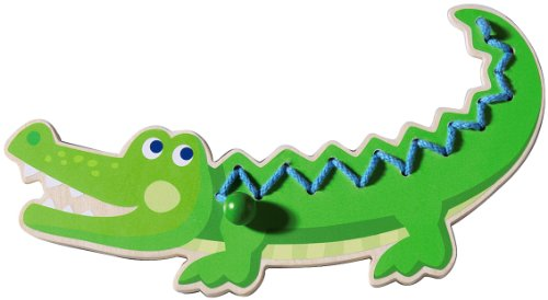Haba Crocodile Threading Animal