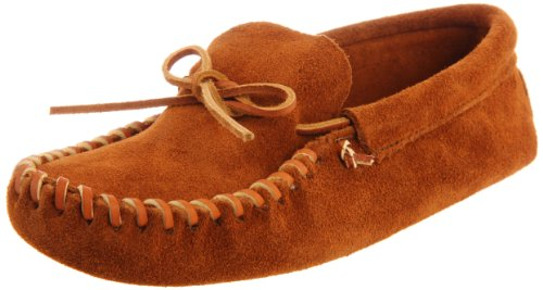 Minnetonka Men's 703 Leather Laced Softsole Moccasin,Brown,12 M US