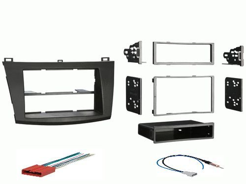 2010 2011 2012 Mazda 3 Radio Install Dash Kit for Single Double Din (Double Din Kit Mazda 3 compare prices)