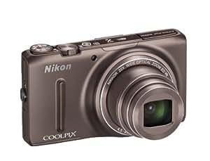 """Nikon Coolpix S9500 Appareil photo numérique compact 18 Mpix Ecran 3"""" Zoom optique 22x Marron"""