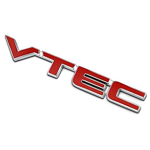 Metal red letter VTEC car sticker auto fender decal emblem for Honda Accord CRV (Vtec Honda Sticker compare prices)