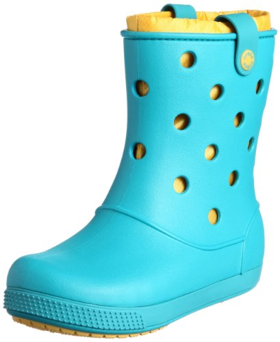 Crocs Women's Crocband Arc Lined Boot Turquoise/Canary Ankle Boots 14645-4P0-420 4 UK, 37 EU, 6 US
