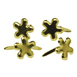 Rayher - 7835306 - tachuelas flor, 4 mm, diseño 100 pcs, oro
