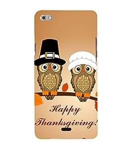 EPICCASE happy thanksgiving Mobile Back Case Cover For Micromax Sliver 5 Q450 (Designer Case)