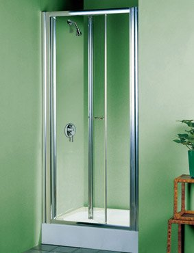 760mm Semi Frameless Bifold Shower Enclosure Door - Protected by ClearShield Technology