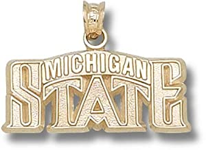 Michigan State University Bridge Design Logo 7 16 - 14K Gold by Logo Art