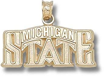 Michigan State Spartans Michigan State Bridge 7 16 Pendant - 10KT Gold Jewelry by Logo Art