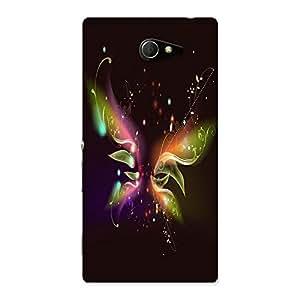 Ajay Enterprises Design Og Buterfly Color Back Case Cover for Sony Xperia M2
