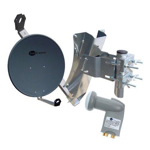 SatConn Sat Anlage 85cm plus Quad LNB 0,1dB HDTV