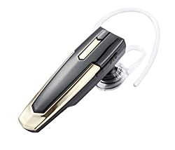 Bluetooth Earbuds: BLUETTEK Mini Wireless Bluetooth V3.0 Stereo Headphones Headset Earphones Earpiece with Microphone & Rechargeable Li-ion Battery Support Hands-free Calling & Music Streaming for Iphone 6 Plus 5s 5c 4s 4 Ipad 2 3 4 New Ipad Ipod Android Samsung Galaxy Smart Phones All Bluetooth-enabled Devices (Gold)