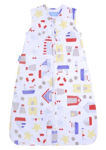 The Gro Company Sandcastle Bay Travel Grobag, 0-6 Months, 2.5 Tog Sandcastle Bay'S Seaside Inspired Design Is Perfect For Holidays And Heat Waves, The New 0.5 Tog Travel Grobags Will Keep A Baby Comfortably Cool Thanks To Their 100% Cotton Single Layer Co