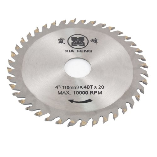 Red 110mm x 20mm 40T Disc Wheel Slitting Saw Blade