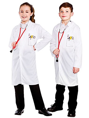 Childs White Unisex Doctor/Vet Coat Fancy Dress Costume