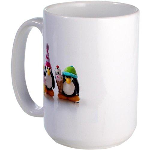 Cafepress Birthday Party Penguins Large Mug Large Mug - Standard