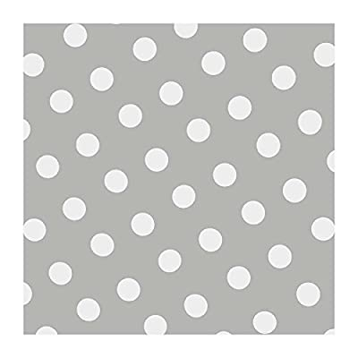 """Tischdecke Wachstuch Abwaschbar """"Punkte Grau"""" 138cm Rund (150-07R) von FLORISTA bei Gartenmöbel von Du und Dein Garten"""