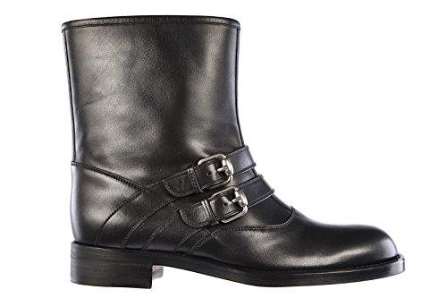 Gucci stivaletti stivali donna in pelle cirano lux nero EU 36 323644 ARP00 1000