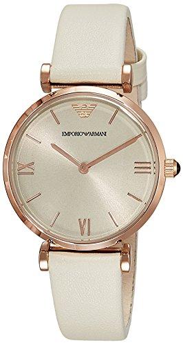 Emporio Armani reloj mujer reloj reloj de pulsera acero inoxidable/piel ar1769nuevo