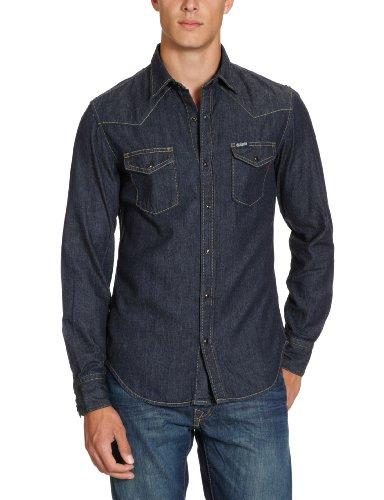 Replay Men's M436 .000.362 07 Casual Shirt Blue (6 Oz Denim) 48